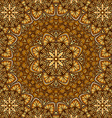 golden floral ornament background vector image