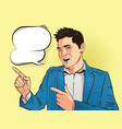 happy young man businessman or student drawn in vector image