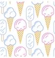 Ice cream seamless pattern Summer vector image