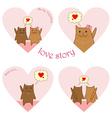 lovestory cats vector image