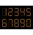Orange Digital Numbers vector image