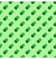 Polka dot green double seamless pattern vector image