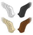 set of color of wings vector image