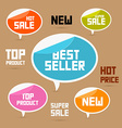Set of Colorful Retro Paper Discount Labels Tags vector image