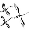 Swan design set vector image