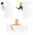 Worker post presentation vector image