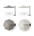 Set of Patio Outdoor Restaurant Round Umbrella vector image