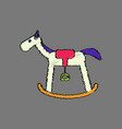 flat shading style icon kids rocking horse vector image vector image
