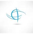 planet line symbol vector image vector image