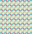 Retro seamless pattern circle vector image vector image