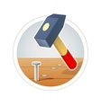 Hammer and nail vector image