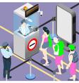 Airport Duty People Queue vector image