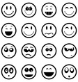 Smiley faces icons set vector image