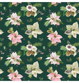 Vintage Poinsettia Background Christmas Pattern vector image vector image