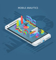 mobile analytics concept vector image