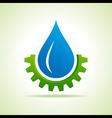 Oil industry drop symbol with gear symbol vector image