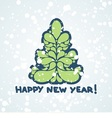postcard for new year vector image