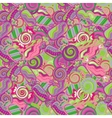 Seamless kawaii child pattern with candy cute vector image