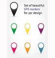 Set of GPS markers vector image