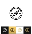 Compass symbol or discovery navigation icon vector image