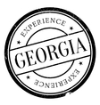 Georgia stamp rubber grunge vector image