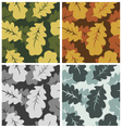 Leaves pattern camouflage set vector image vector image
