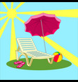 summer vacation - beach chair vector image