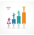 Step by step to success infographics vector image