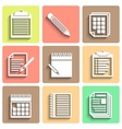 Set of flat icons for web and mobile vector image