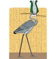 Ibis on Egypt background vector image