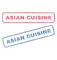 Asian cuisine textile stamps vector image