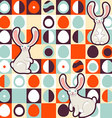 Easter seamless pattern Retro style eggs and cute vector image