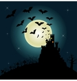Helloween invitation and greeting card vector image