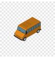 isolated bus isometric autobus element ca vector image