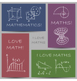 math doodles chalky vector image