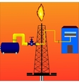 Natural gas vector image