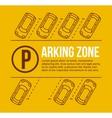 parking lot vector image