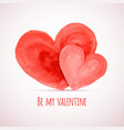 Watercolor hearts for Valentines day cards designs vector image