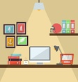 Workstation Flat Design vector image
