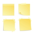 Yellow stick note isolated vector image
