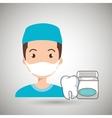 nurse tooth health mouthwash vector image