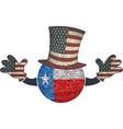 Texas ball with American hat and hands vector image