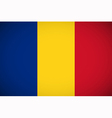 National flag of Romania vector image
