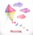 kite watercolor vector image