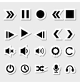 Player Icons Set as Labels vector image