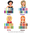 Four color types vector image vector image