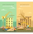constructing building vector image