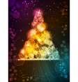 colorful christmas tree vector image