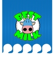Cow gets a milk bath vector image