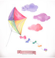 kite watercolor vector image